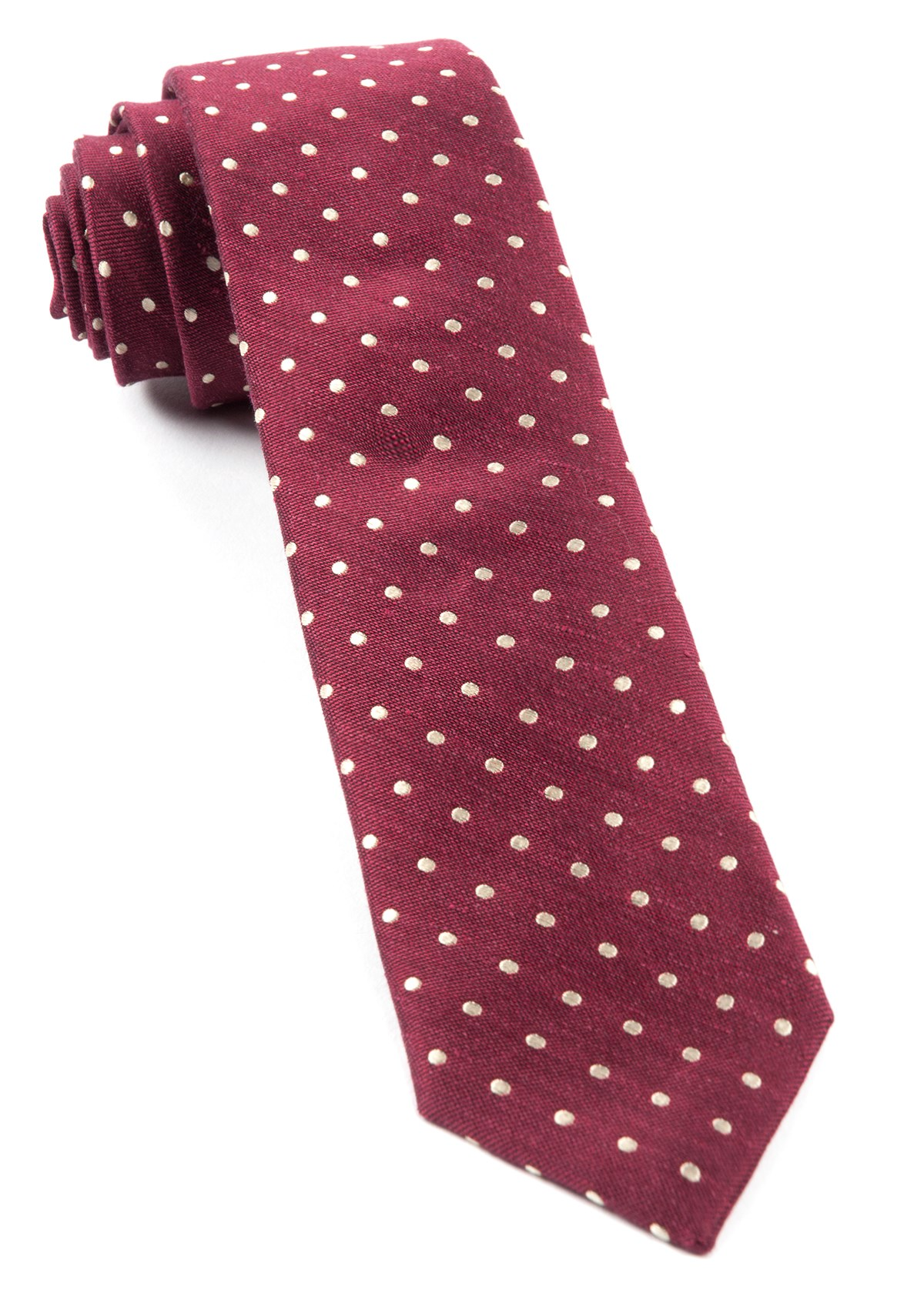 """Dotted Dots - Burgundy - 2.5"""" x 58"""" - Ties"""