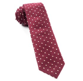 Burgundy Dotted Dots ties