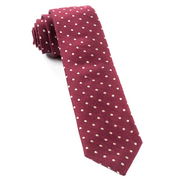 Burgundy Dotted Dots Tie