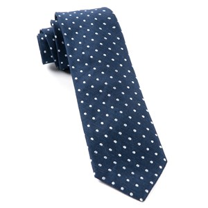 dotted dots navy ties