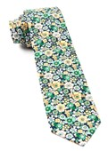 Ties - Floral Level - Navy