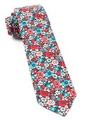 Ties - Floral Level - Red