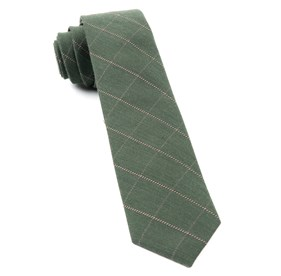 Army Green Goalpost Pane ties