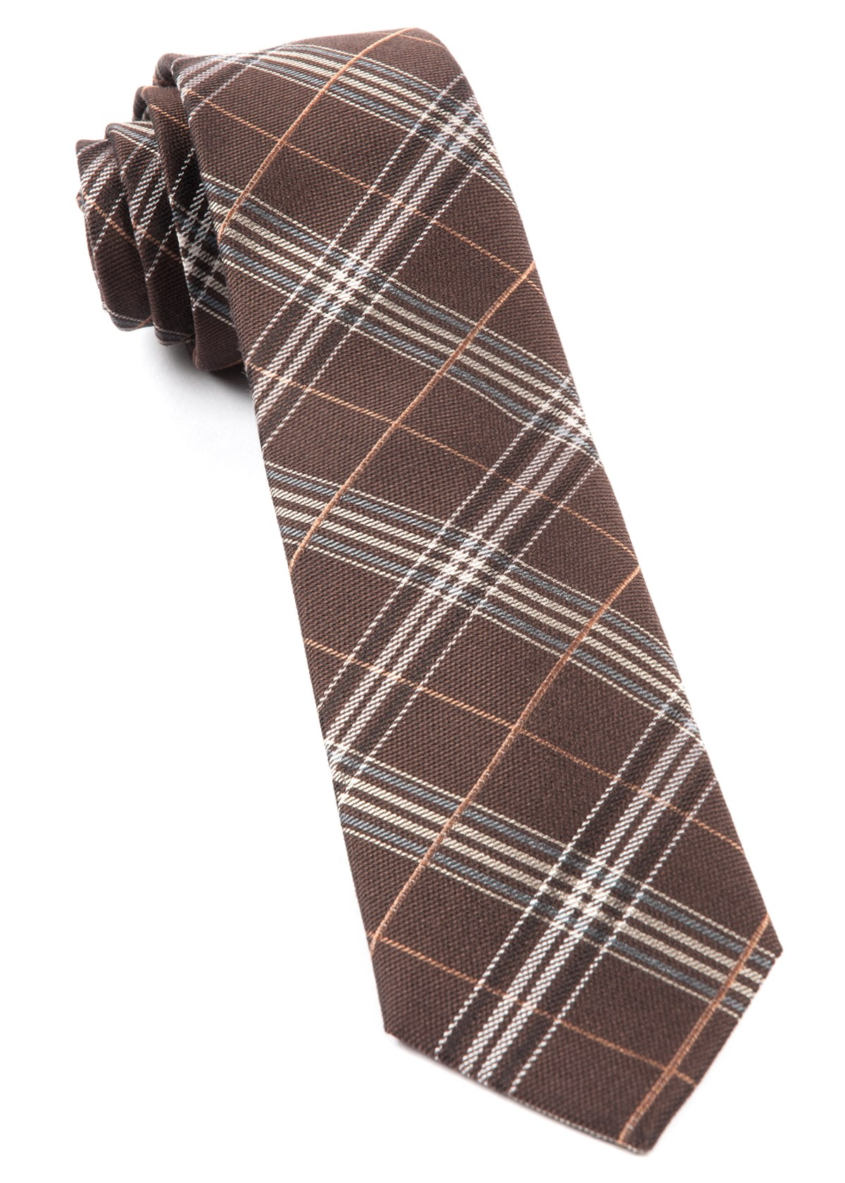 brown marshall plaid tie ties bow ties and pocket. Black Bedroom Furniture Sets. Home Design Ideas