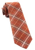 Ties - Marshall Plaid - Burnt Orange