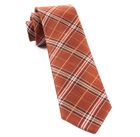 Marshall Plaid Burnt Orange Ties