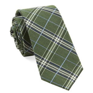marshall plaid clover green ties