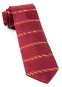 Ties - Ripon Horizontal Stripe - Burgundy