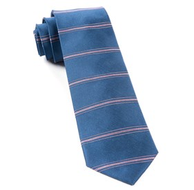 Ripon Horizontal Stripe Cornflower Blue Ties