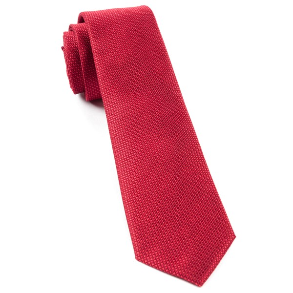 Red Sideline Solid Tie