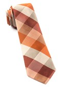 Ties - Stout Gingham - Orange