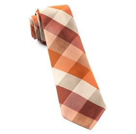 Orange STOUT GINGHAM ties