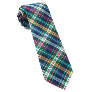 corrigan plaid navy ties