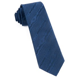 Navy Ingrained ties