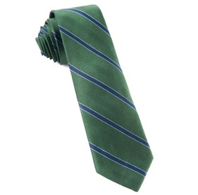 Hunter Green Kennedy Stripe ties