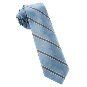 kennedy stripe slate blue ties