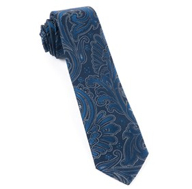 Paisley Boundaries Navy Ties