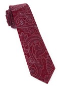 Ties - Paisley Boundaries - Burgundy