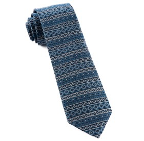 Texcoco Horizontal Stripe Navy Ties