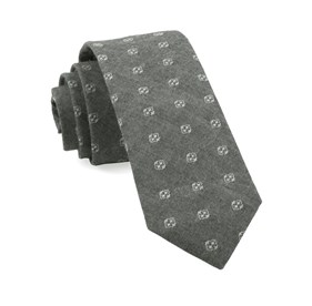 Geo Stamp Grey Ties