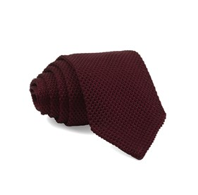 Burgundy Pointed Tip Knit ties