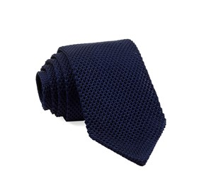 Pointed Tip Knit Navy TIES