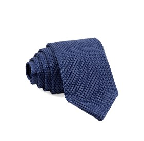 Slate Blue Pointed Tip Knit ties