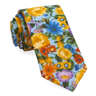 duke floral light blue ties
