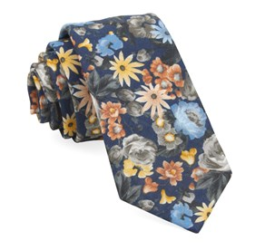 Navy Duke Floral ties