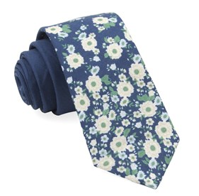 Navy Meyer Flowers ties