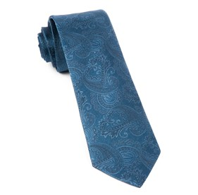 Whale Blue Twill Paisley ties