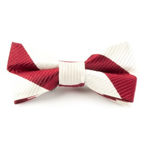 Ivory Classic Twill boys bow ties