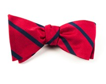 Bow Ties - TRAD STRIPE - Classic Red
