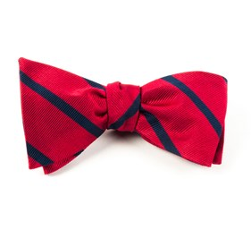 Trad Stripe Classic Red Bow Ties
