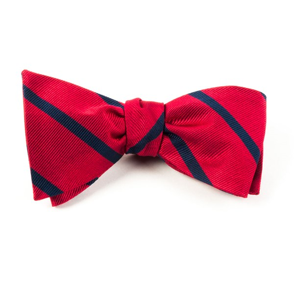 Classic Red Trad Stripe Bow Tie