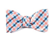 Bow Ties - Power Checks - Coral