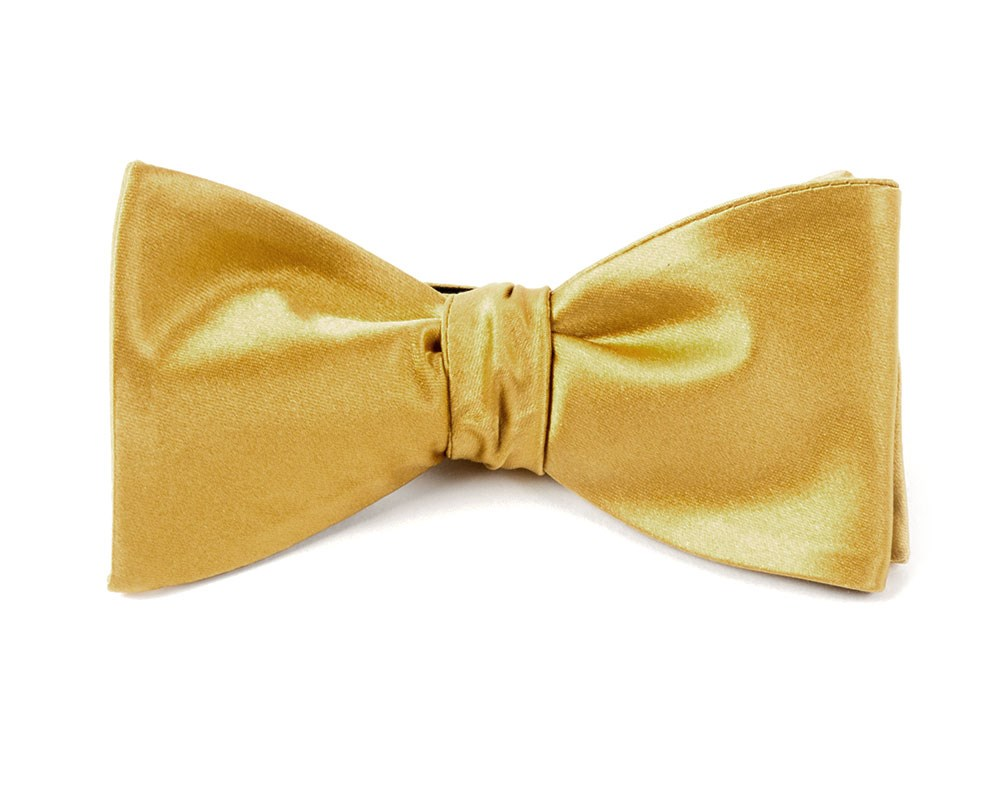c07d20a6d994 Mustard Solid Satin Bow Tie   Men's Bow Ties   The Tie Bar