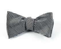 Bow Ties - Native Herringbone - Black