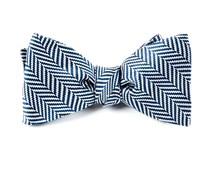Bow Ties - Native Herringbone - Navy