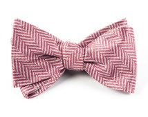 Bow Ties - Native Herringbone - Dusty Rose