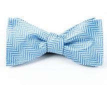 Bow Ties - NATIVE HERRINGBONE - LIGHT BLUE