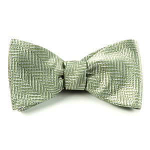 native herringbone moss bow ties