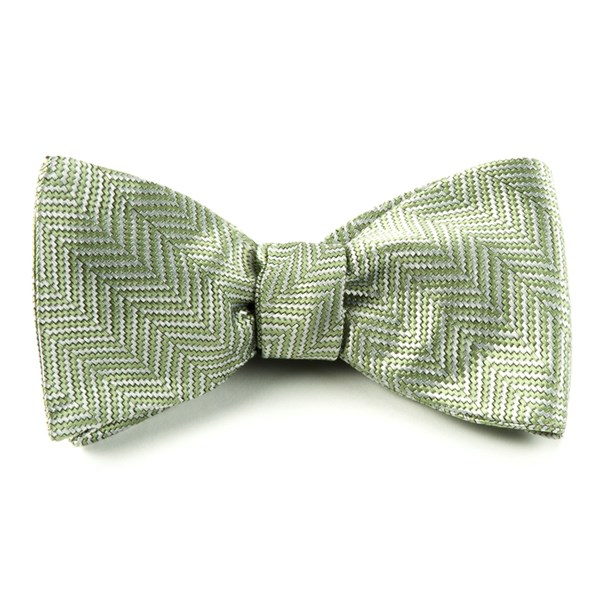 Moss Native Herringbone Bow Tie