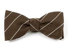 Bow Ties - PENCIL PINSTRIPE - MUD