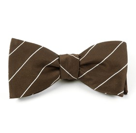 Pencil Pinstripe Mud Bow Ties