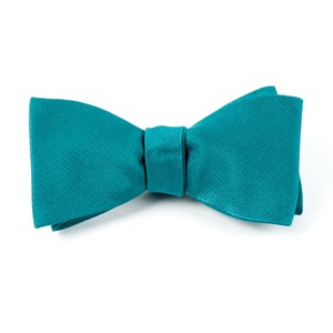 grosgrain solid green teal bow ties
