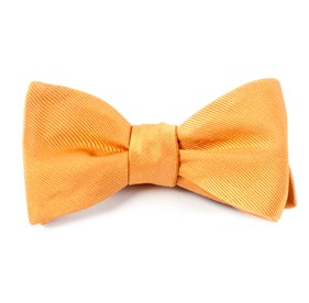 Grosgrain Solid Cantaloupe Bow Ties