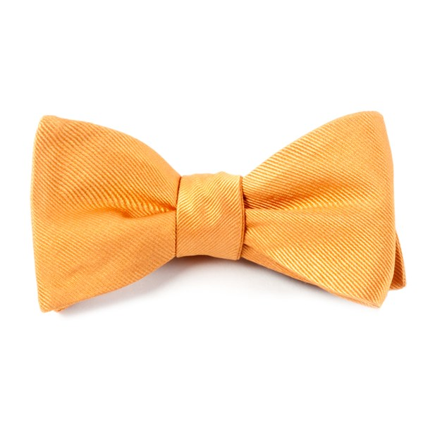 Cantaloupe Grosgrain Solid Bow Tie