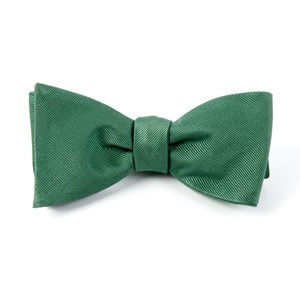 grosgrain solid hookers green bow ties