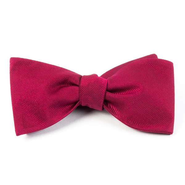 Cranberry Grosgrain Solid Bow Tie
